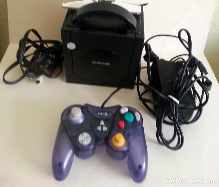 CONSOLA GAMECUBE NEGRA CON MANDO Y CABLES (Juguetes - Videojuegos y Consolas - Nintendo - Gamecube)
