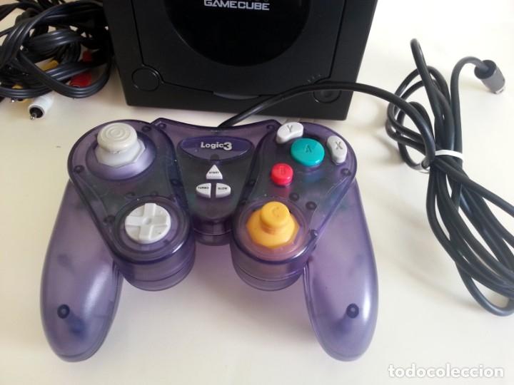 Videojuegos y Consolas: CONSOLA GAMECUBE NEGRA CON MANDO Y CABLES - Foto 3 - 173790332