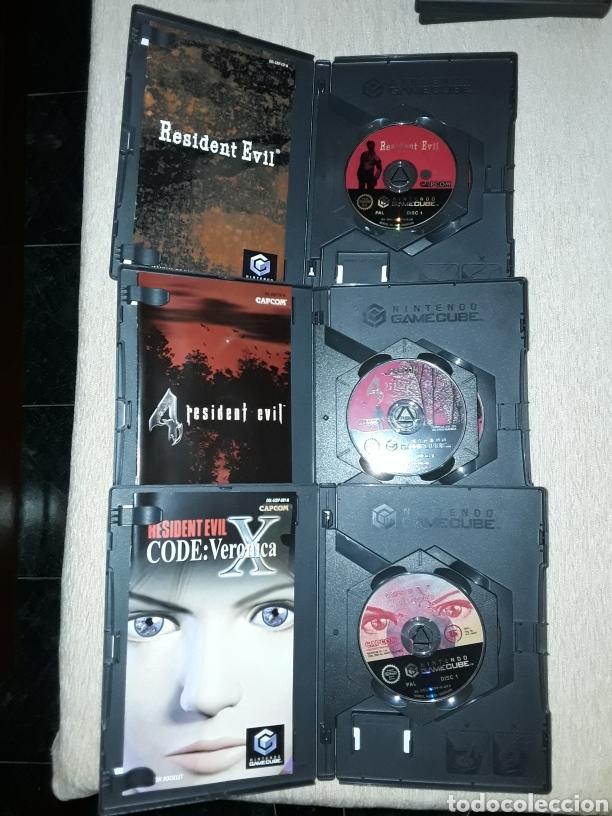 Videojuegos y Consolas: Lote 3 juegos resident evil, x, 0, 4 gamecube nintendo - Foto 3 - 177772354