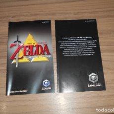 Videojuegos y Consolas: ZELDA COLLECTOR MANUEL DE INSTRUCCIONES ORIGINAL NINTENGO GAMECUBE GAME CUBE PAL ESPAÑA CASTELLANO. Lote 182364948