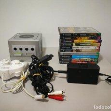 Videojuegos y Consolas: LOTE GAME CUBE PLATA CON JUEGOS. Lote 187318253