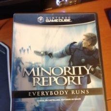 Videojuegos y Consolas: JUEGO MINORITY REPORT EVERYBODY RUNA PARA NINTENDO GAMECUBE. Lote 190417753