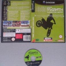 Videojuegos y Consolas: NINTENDO GAMECUBE JEREMY MCGRATH SUPERCROSS WORLD INCLUYE CAJA BOXED PAL LEER!! R10123. Lote 195372212