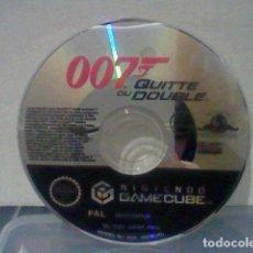 Videojuegos y Consolas: GAMECUBE NINTENDO 007 QUITTE OU DOUBLE DISCO NO CAJA NO MANUAL . Lote 197474371