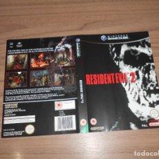 Videojuegos y Consolas: RESIDENT EVIL 2 PORTADA ORIGINAL JUEGO NINTENDO GAME CUBE GAMECUBE. Lote 203166292