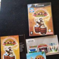 Videojuegos y Consolas: DONKEY KONGA, NINTENDO GAME CUBE. CAJA Y MANUAL.. Lote 205122508