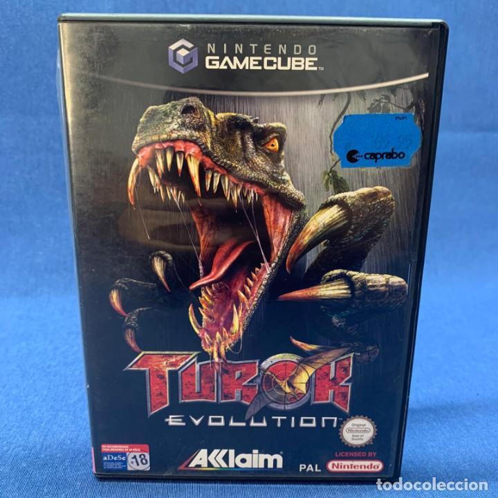 VIDEOJUEGO - NINTENDO GAMECUBE - TUROK EVOLUTION + CAJA + INSTRUCCIONES (Juguetes - Videojuegos y Consolas - Nintendo - Gamecube)