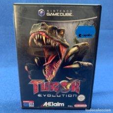 Videojuegos y Consolas: VIDEOJUEGO - NINTENDO GAMECUBE - TUROK EVOLUTION + CAJA + INSTRUCCIONES. Lote 218086486