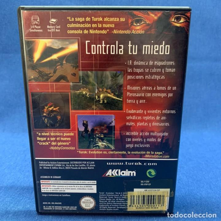 Videojuegos y Consolas: VIDEOJUEGO - NINTENDO GAMECUBE - TUROK EVOLUTION + CAJA + INSTRUCCIONES - Foto 3 - 218086486
