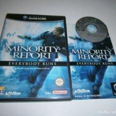 Videogiochi e Consoli: MINOROTY REPORT NINTENDO GAMECUBE PAL ESPAÑA COMPLETO. Lote 218550108