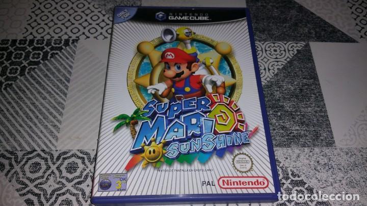 SUPER MARIO SUNSHINE GAMECUBE PAL ESPAÑA COMPLETO (Juguetes - Videojuegos y Consolas - Nintendo - Gamecube)