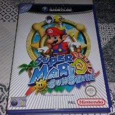 Videojuegos y Consolas: SUPER MARIO SUNSHINE GAMECUBE PAL ESPAÑA COMPLETO. Lote 219327623