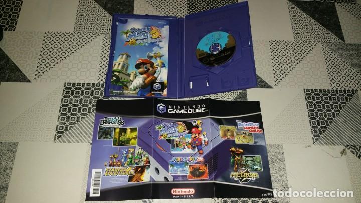 Videojuegos y Consolas: SUPER MARIO SUNSHINE GAMECUBE PAL ESPAÑA COMPLETO - Foto 3 - 219327623