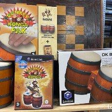 Videojuegos y Consolas: DONKEY KONGA PACK JUEGO + BONGOS (NINTENDO GAMECUBE) (EDICIÓN ESPAÑOLA, COMPLETO. Lote 220965375