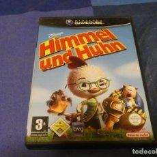 Videojuegos y Consolas: EXPRO JUEGO GAMECUBE BUEN ESTADO TEXTO TRASERO ALEMAN CHICKEN LITTLE PEQ SEÑALES USO CD. Lote 222917663