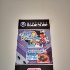 Videojuegos y Consolas: POSTER FOLLETO PUNTOS NINTENDO GAMECUBE SUPER MARIO SUNSHINE Y MARIO PARTY 4 GAME CUBE. Lote 227725675