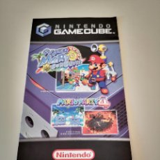 Videojuegos y Consolas: POSTER FOLLETO PUNTOS NINTENDO GAMECUBE SUPER MARIO SUNSHINE Y MARIO PARTY 4 GAME CUBE. Lote 227725830