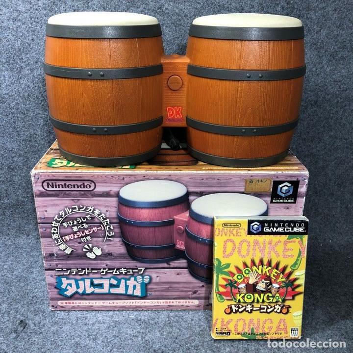 DONKEY KONGA+BONGOS NINTENDO GAME CUBE (Juguetes - Videojuegos y Consolas - Nintendo - Gamecube)