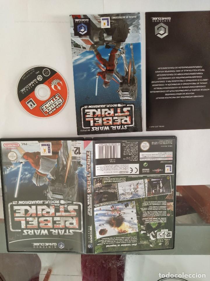 STAR WARS REBEL STRIKE NINTENDO GAMECUBE COMPLETO PAL-ESPAÑA (Juguetes - Videojuegos y Consolas - Nintendo - Gamecube)