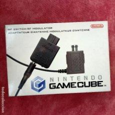 Videojuegos y Consolas: NINTENDO GAMECUBE ADAPTADOR DE ANTENA RF SWITCH MODULER NUEVO A ESTRENAR GAME CUBE ORIGINAL. Lote 253811715