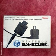 Videojuegos y Consolas: NINTENDO GAMECUBE ADAPTADOR DE ANTENA RF SWITCH MODULER NUEVO A ESTRENAR GAME CUBE ORIGINAL. Lote 253811750