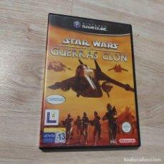 Videojuegos y Consolas: JUEGO NINTENDO GAMECUBE PAL ESP STAR WARS LAS GUERRAS CLON * SEMINUEVO *. Lote 261543225