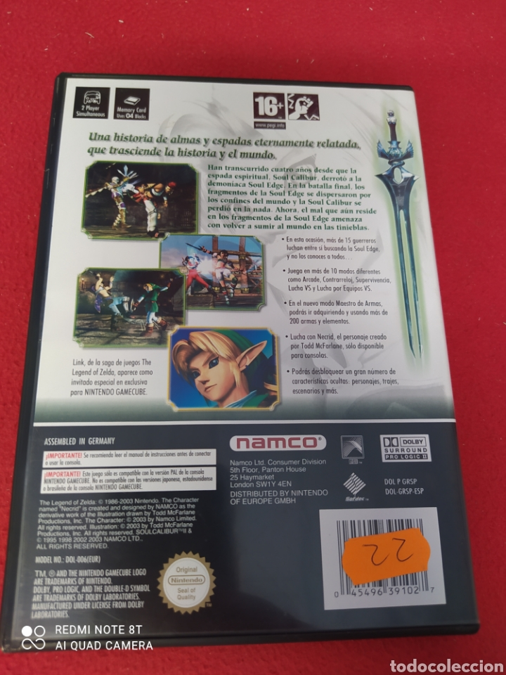 Videojuegos y Consolas: SOUL CALIBUR II - Foto 2 - 263916460