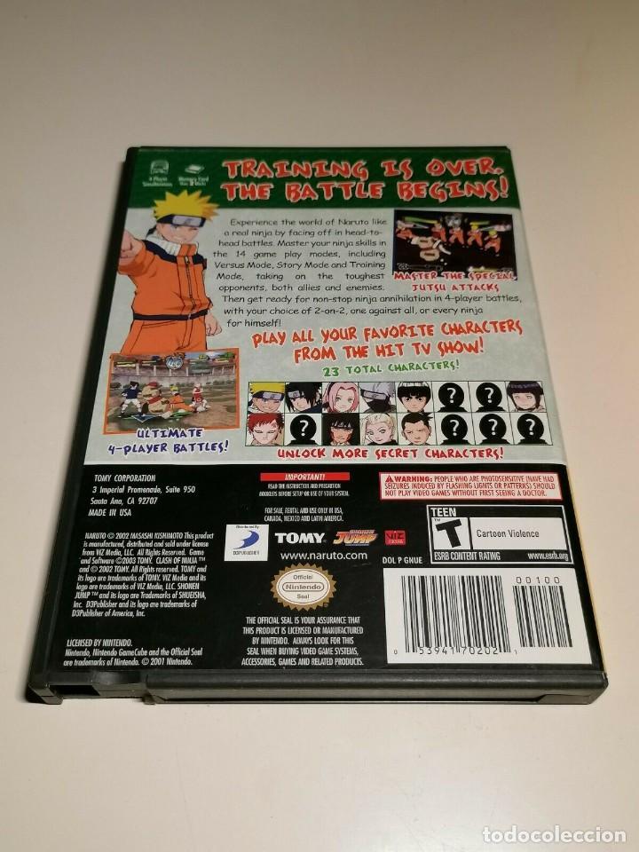 Videojuegos y Consolas: Juego Nintendo GameCube Naruto Clash of Ninja 2 USA - Foto 3 - 270530383