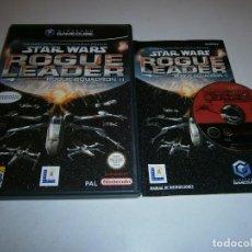 Videojuegos y Consolas: STAR WAR ROGUE LEADER ROGUE SQUADRON II GAMECUBE PAL ESPAÑA COMPLETO. Lote 277664363