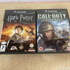 Videojuegos y Consolas: HARRY POTTER Y CALL OF DUTY GAME CUBE. Lote 286569798