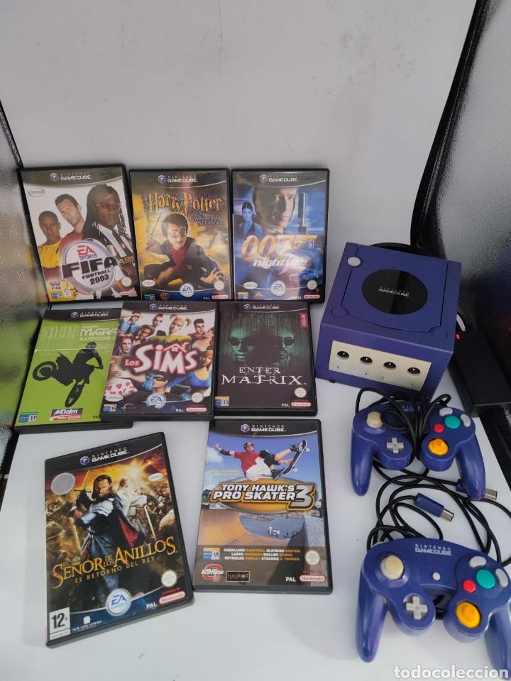 CONSOLA NINTENDO GAMECUBE + 8 JUEGOS + 2 MANDOS (Juguetes - Videojuegos y Consolas - Nintendo - Gamecube)