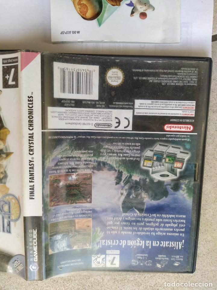 Videojuegos y Consolas: FINAL FANTASY CHRISTAL CHRONICLES NINTENDO GAMECUBE PAL-ESPAÑA COMPLETO - Foto 2 - 286936998