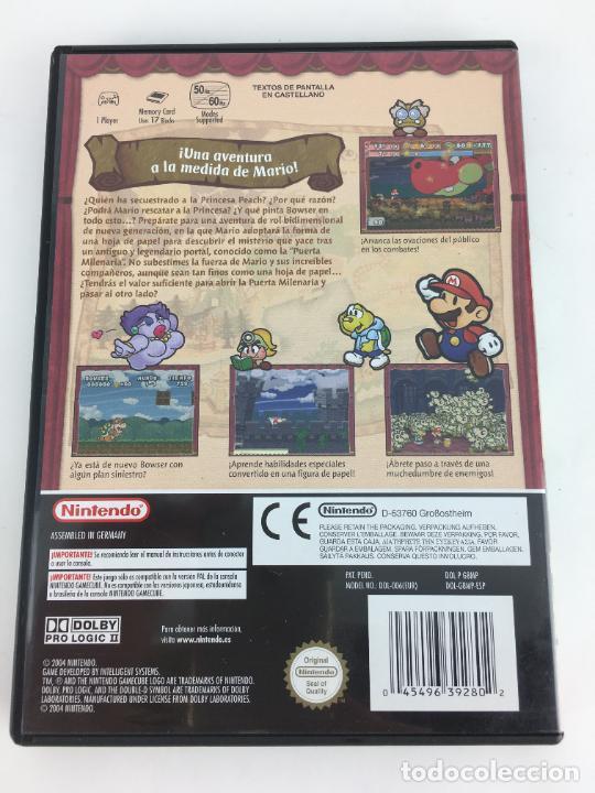 Videojuegos y Consolas: JUEGO GAMECUBE Paper Mario La puerta milenaria - COMPLETO - PAL ESPAÑA GAME CUBE - Foto 3 - 286992018
