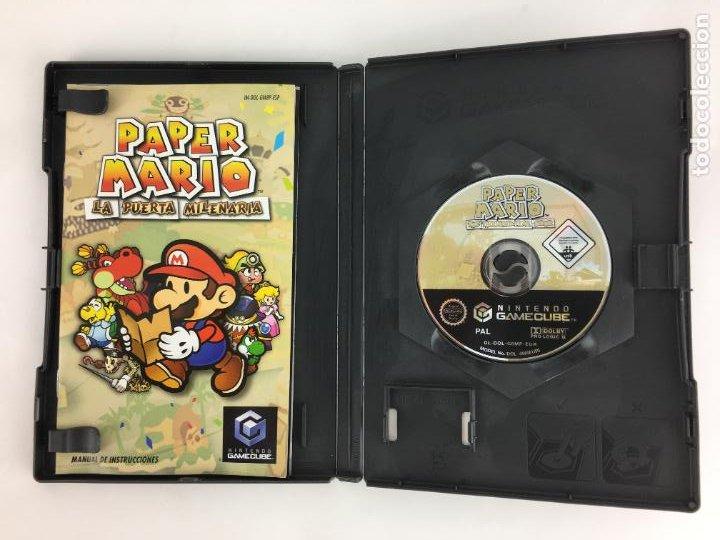 Videojuegos y Consolas: JUEGO GAMECUBE Paper Mario La puerta milenaria - COMPLETO - PAL ESPAÑA GAME CUBE - Foto 4 - 286992018