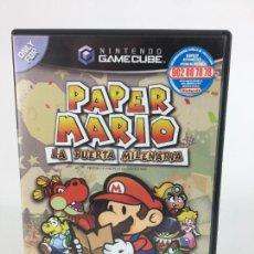 Videojuegos y Consolas: JUEGO GAMECUBE PAPER MARIO LA PUERTA MILENARIA - COMPLETO - PAL ESPAÑA GAME CUBE. Lote 286992018
