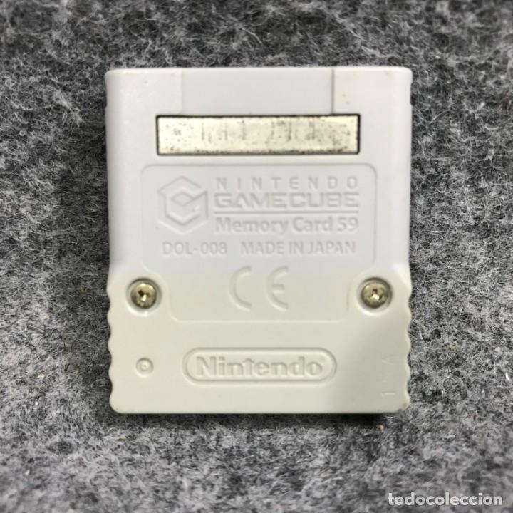 Videojuegos y Consolas: MEMORY CARD OFICIAL 59 BLOQUES GRIS NINTENDO GAME CUBE - Foto 2 - 287804963