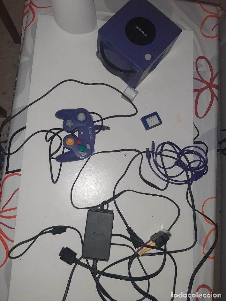 CONSOLA GAME CUBE FUNCIONANDO.CON CABLES,MANDO ETC. (Juguetes - Videojuegos y Consolas - Nintendo - Gamecube)