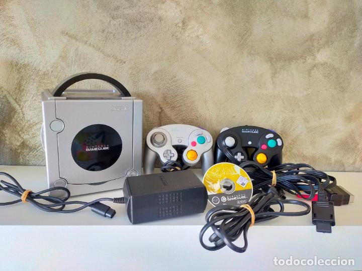CONSOLA GAME CUBE CON MANDOS Y ZELDA TWILIGHT PRINCESS (Juguetes - Videojuegos y Consolas - Nintendo - Gamecube)