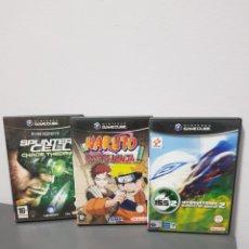 Videojuegos y Consolas: NINTENDO GAMECUBE NARUTO SPLINTER Y MAS LOTE DE 3 PAL ESP TAL CUAL FOTOS. Lote 289427143