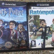 Videojuegos y Consolas: GAME CUBE 2 JUEGOS HARRY POTTER Y RATONPOLIS CON MANUALES. Lote 295994893