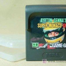 Videojuegos y Consolas: JUEGO CONSOLA, ORIGINAL, SEGA, GAME GEAR, AYRTON SENNA, SUPER MONACO GP 2, JAPON. Lote 17542184