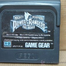 VIDEO JUEGO SEGA - GAME GEAR - POWER RANGERS THE MOVIE