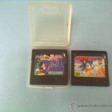 Videojuegos y Consolas: 2 JUEGOS CONSOLA GAME GEAR,SONIC THE HEDGEHOG Y CASTLE OF ILUSIN MICKEY---. Lote 28369472