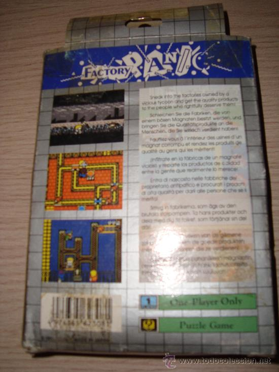 Videojuegos y Consolas: JUEGO SEGA GAME GEAR FACTORY PANIC AÑO 1991 - Foto 2 - 29084986