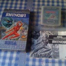 Videojuegos y Consolas: SHINOBI JUEGO PARA SEGA GAMEGEAR GAME GEAR GG COMPLETO. Lote 32854827