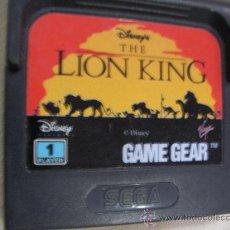 Videojuegos y Consolas: ANTIGUO JUEGO GAME GEAR REY LEON. Lote 32479537