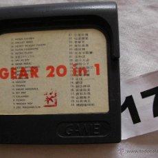 Videojuegos y Consolas: JUEGO GAMEGEAR 20 EN 1 - ENVIO GRATIS A ESPAÑA. Lote 39562425