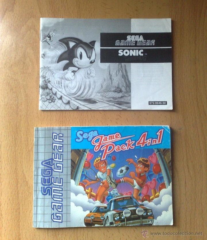 MANUALES SEGA GAME PACK 4 EN 1 Y SONIC GAME GEAR /GAMEGEAR (Juguetes - Videojuegos y Consolas - Sega - GameGear)