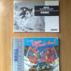 Videojuegos y Consolas: MANUALES SEGA GAME PACK 4 EN 1 Y SONIC GAME GEAR /GAMEGEAR . Lote 40028557