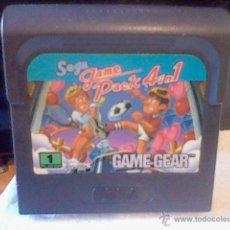 Juego consola Game Gear Sega game pack 4 in 1 sin probar solo cartucho